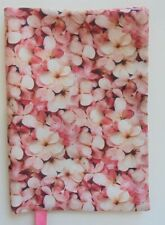 Fabric Paperback Book Cover Standard Size Ocean of Pink Flowers Floral print