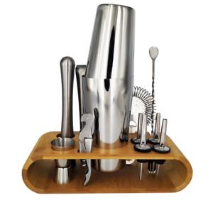 Stainless Steel Boston Cocktail Shaker Bar Wine Mixer Set Bartender Hand Shaker