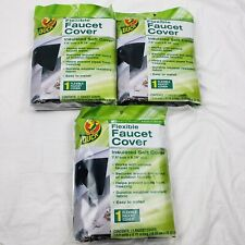 NEW Lot Of 3 Duck Brand Insulated Soft Flexible Faucet Cover ~ Easy To Install