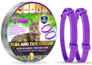 2 Pack-Flea-Collar-for-Cats Adjustable S/M/L, 8 Month Flea-Treatment-Cat-Kitten
