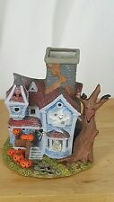 PartyLite HALLOWEEN Haunted HOUSE Tealight Candle Holder Ghost