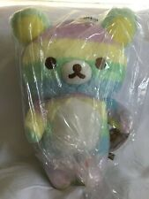 San-X Rilakkuma LICENSED XL LARGE Rainbow Striped Plush Doll Toy US SELLER