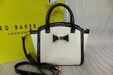 Ted Baker Ladies DELIYAH Curved Top Bow Leather Tote Cross Body Bag BNWT RP £189