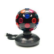 "Black 5"" Inch Rotating Disco Ball Light Globe Party Birthday Club DJ Stage Decor"