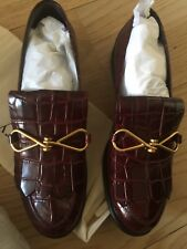 Gorgeous Mulberry Burgundy Crocodile Shoes 7/40