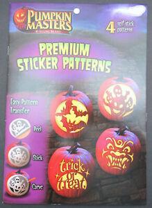 Pumpkin Masters ~ 4 Self Stick Patterns ~ Halloween ~ Premium Sticker Patterns!