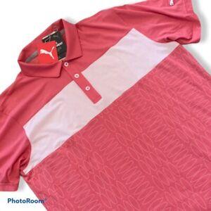 Puma Golf Tournament Edition Polo Shirt Rapture Rose Mens Size Small S TC11287