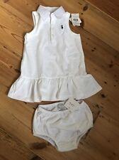 Ralph Lauren Chicas Vestido Polo 18m y Bloomer Set Nuevo