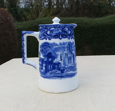 Fabulous Blue And White Griffin Jug Vintage C1980 Pretty And Colorful Pottery