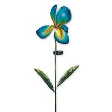 LED Solar Gartenstecker Blüte Blumenstecker 60 cm 8 LEDs Beleuchtung bunt
