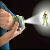 Kids Watch Toys Projector Ben 10 Omnitrix Alien Viewer White Yellow Green Lights