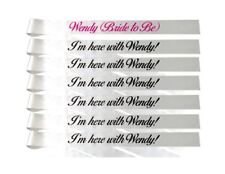 Custom bachelorette party sashes - Set of 7 - your text - any font/ print color