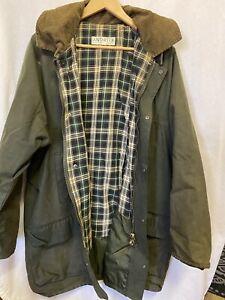 ANTARTEX Oil Wax Mens Jacket szXXL Made in British Isles Waterproof Lined Hooded