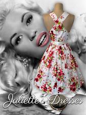 Tengo para tu fabulosa amapolas 50s 60s Vintage Inspirado Verano Vestido para Baile de Graduación Talla 14