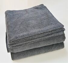 10 x Large Microfibre Cleaning Cloths Polishing Dusters Car Garden Grey