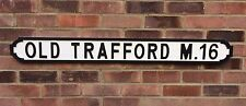 OLD TRAFFORD M16 Vintage wooden street sign, Manchester United