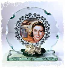 Vera Lynn 'Rememeber Them'  Photo Cut Glass Round Plaque  Limited Edition #4