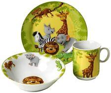 Kindergeschirr Set Kinder Geschirr Dschungeltiere Porzellan Tiere Teller Schale
