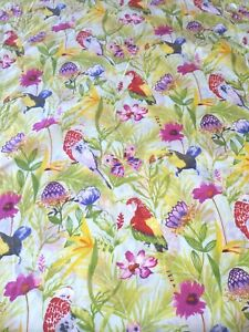 """Tropical Birds Floral Butterfly Hawaiian Shirting Cotton Fabric~By Yard~36""""x57"""""""