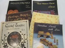 Lot of 6 Painting Instruction Books  Jo Sonja - Primitive Country Tole Painting