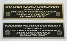 Khabib Nurmagomedov UFC nameplate for signed mma gloves photo or case