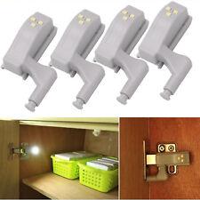 4x LED Schrank Lampe Küchenschrank Kleiderschrank Licht Scharnier Leuchte Sensor