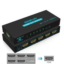 HDMI Switch Adapter 5 Ports 4k Splitter 1080p Connect Devices With Ir Remote