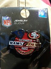 49ers game day pin Los Angeles Rams 9 21 2017  comes with 49ers pocket schedue