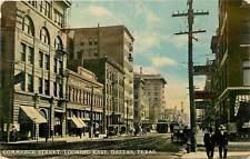 Texas, TX, Dallas, Commerce Street Looking East 1910's Postcard