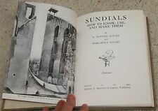 Sundials How to Know Use and Make Them Mayall illustrated 1962 book