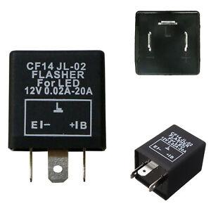 3-Pin CF14 CF-14 EP35 LED Flasher Relay Fix Turn Signal Hyper Flash Issues