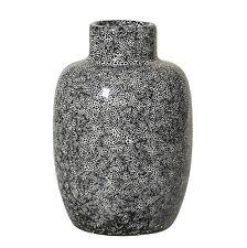 Bloomingville DEKO Vase Black Stoneware Maße Ø7 5 X H11 Cm