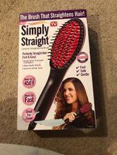 Simply Straight Ceramic Hair Straightening Brush, Black/Pink As Seen on TV