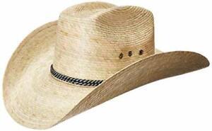 Mexican Palm Leaf Straw 8 Second COWBOY Wide Brim Hat, Light Tan  MEXIMART
