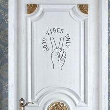 GOOD VIBES ONLY Home Decor Wall Sticker Decal Bedroom Door Vinyl Art Mural Nuovo
