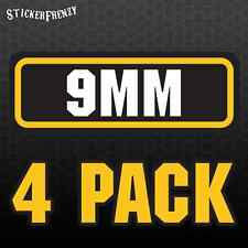 9mm 4pk Sticker Set - Ammo Can Box Decal bullet ARMY Gun safety Hunting label