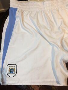 Reebok MCFC Manchester City XL Official Team Merchandise Football Soccer Shorts