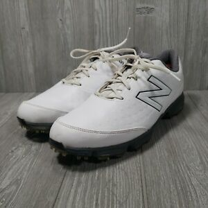New Balance Mens Golf Spikes NBG2002 Lace Up Size 13 White Black Gray