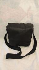 Black WILSONS LEATHER Leather Book Bag Shoulder Bag Cross Body