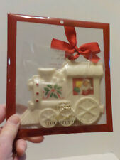 "New Nos Lenox Holiday Train Cookie Press Measures 5 "" X 6"""