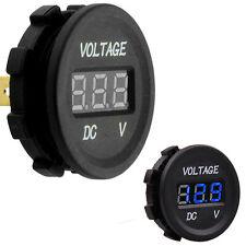 Car Motor Blue LED Digital Display Panel 12V-24V Voltmeter Volt Meter