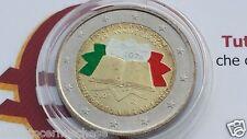 2 euro 2007 Italia smaltato colorato italie italien italy 50 trattati Roma Rome