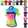 Women Cycling Jersey Short Sleeve Biking Shirt Bike Clothing Bicycle Jacket Tops
