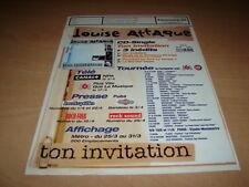 LOUISE ATTAQUE TON INVITATION!! PLAN MEDIA 21 X 29.5 CM