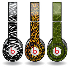 Removable Vinyl Decal - Fits Beats Solo HD Headphone Skins-Animal Print Set of 3