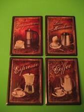 Die Kaffeeserie ---> 4 verschiedene Schilder 11x8 cm