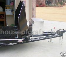 Motorcycle Bike trailer Flame Flames decal decals stripes Stripe graphics Harley