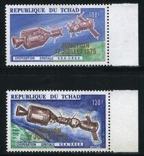 252 /Space Raumfahrt 1975 Tschad Chad Soyuz 722-723 Gold Overprint Proof MNH RAR