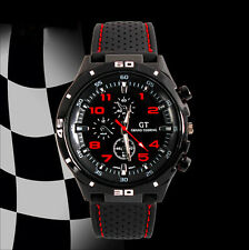 Men Rubber Silicone F1 GT  Sports watch Casual Cycling Analog wrist watch