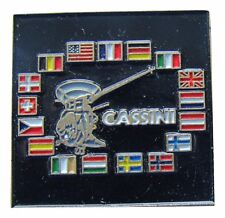 NASA PIN vintage CASSINI - Mission To SATURN International FLAGS
